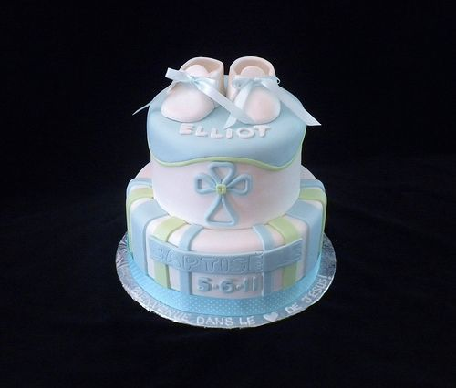 Gateau Baptême Garcon cakepins.com