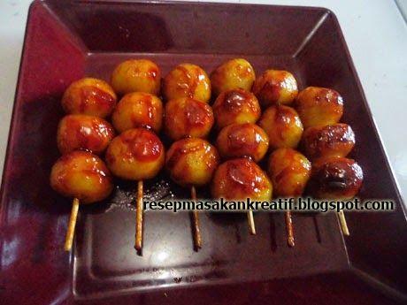 Resep Cilok Bakar Isi Kornet | Resep Masakan Indonesia (Indonesian Food Recipes)