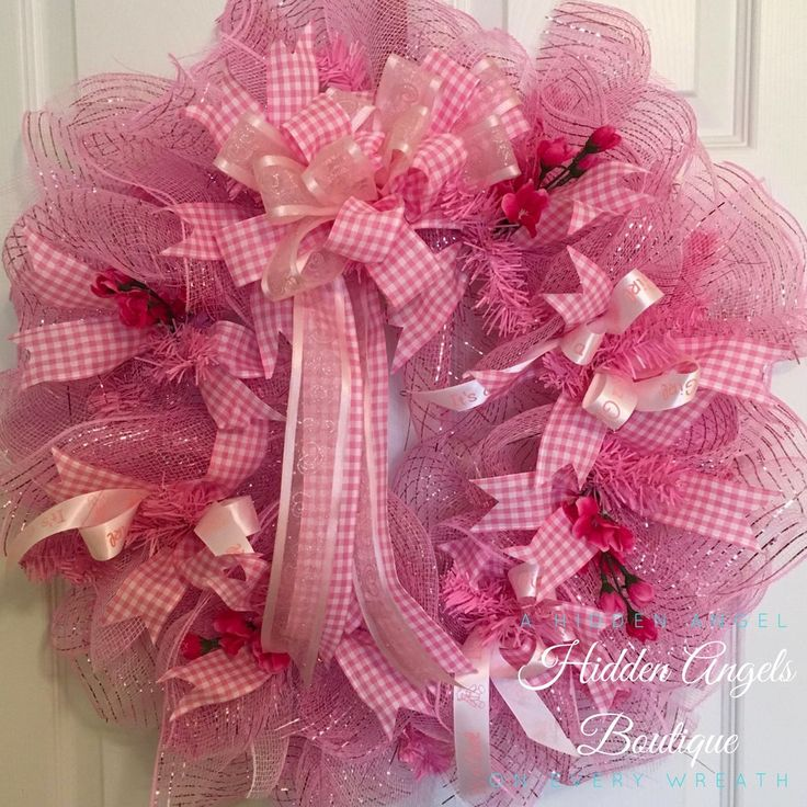 Baby Girl Hospital Door Wreath, Baby Girl Nursery Wreath, It's a Girl Wreath, Wreath for Hospital Door, Baby Girl Wreath, Baby Shower Wreath by HiddenAngelsBoutique on Etsy