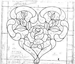 Afbeeldingsresultaat voor stained glass heart patterns