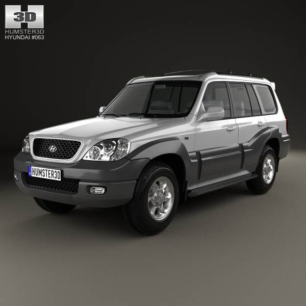 Hyundai Terracan 2004 3d model from humster3d.com. Price: $75