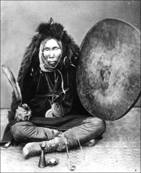 eurasian-shamanism:  A photograph of a Nivkh shaman from the 1910's