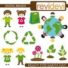 Clip Art Earth Day, Recycle, Go Green (kids, earth, plant).  Cute clip art set for teachers and educators. Great resource for any school and classr...