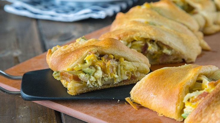 A few flavor-packed ingredients improve the traditional chicken salad. The flaky crescent dough wrap makes it outstanding!