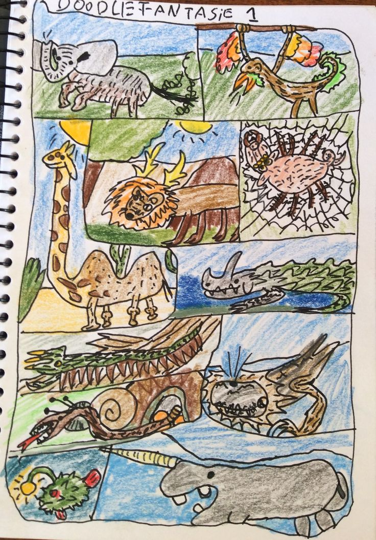 Fantasie Animal Doodles Part 1 Mixing animal features to bring  fantasy creatures to life