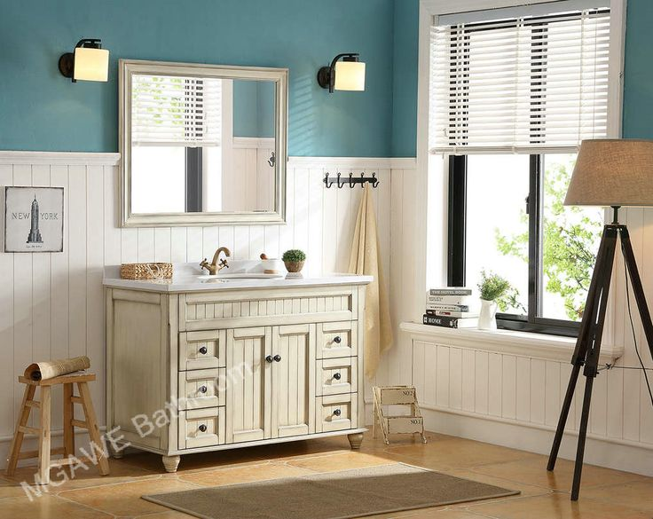48inch Bathroom Vanity Cabinet Set Good Quality Solid Wood Material