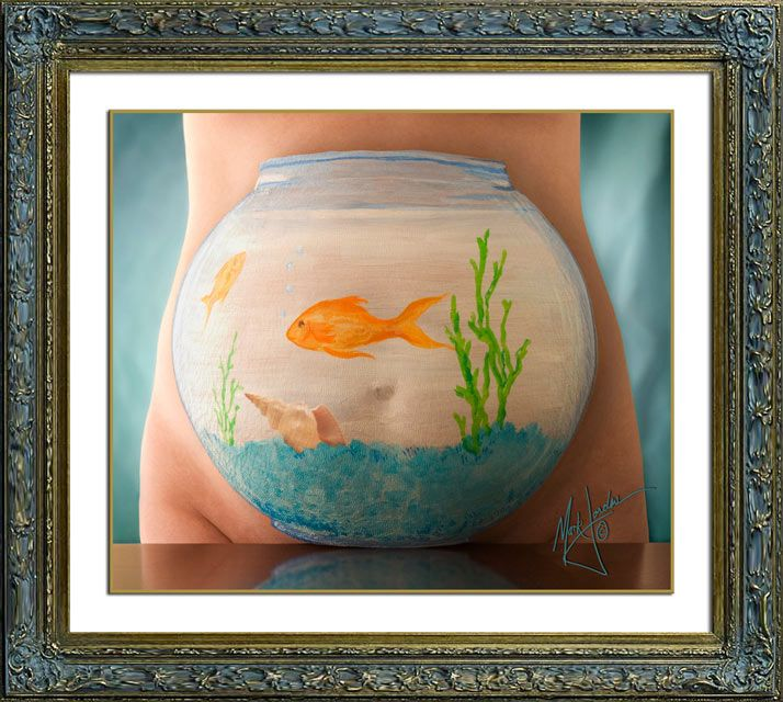 Fishbowl Belly - Belly Art painting on pregnant bellies by ...