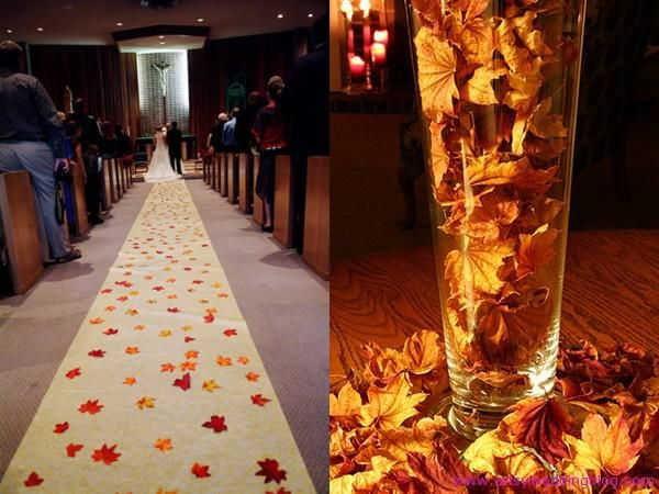 Autumn Leaves Theme Your Best Choice For An Wedding