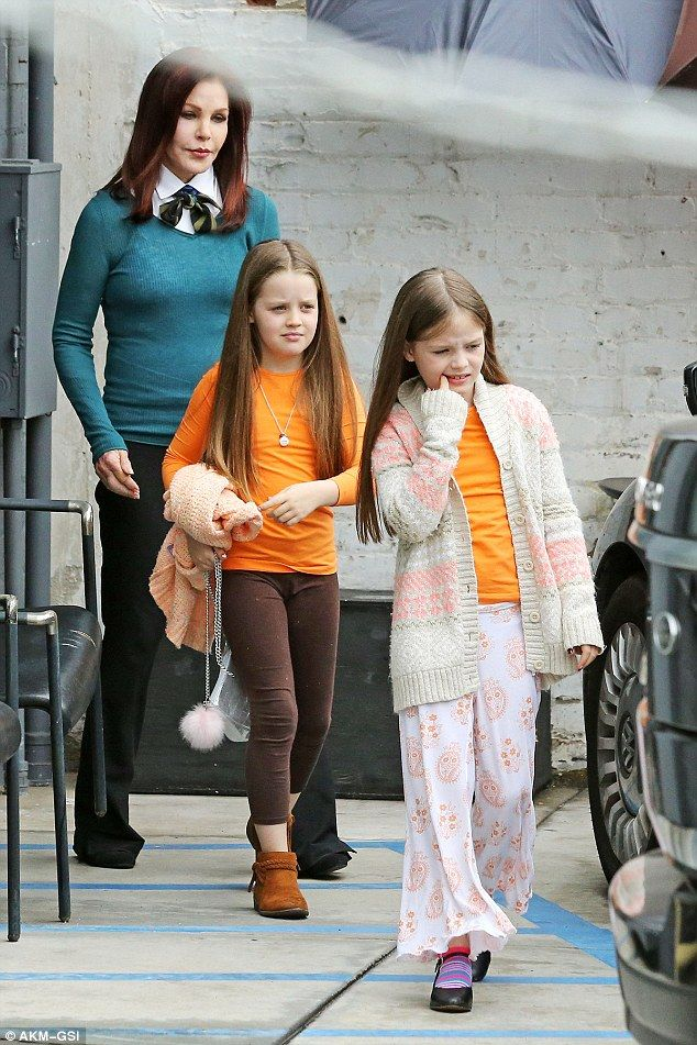 The 71-year-old was spotted out with twins Finley and Harper on Tuesday for the first time since declaring they were under her care. Lisa Marie and her ex Michael Lockwood are battling