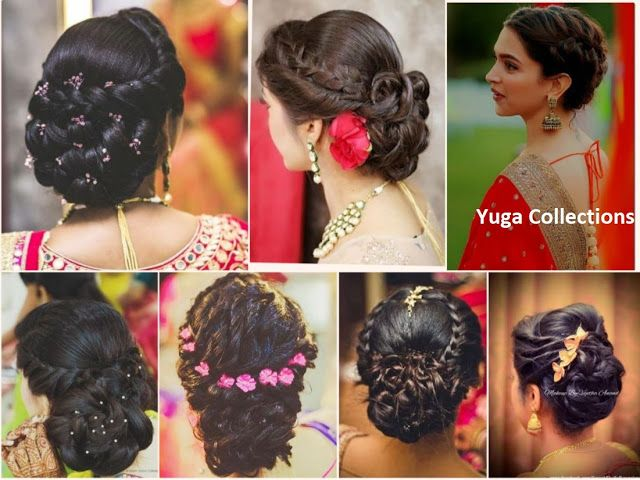 20 Best And Beautiful Indian Bridal Hairstyles For Engagement Wedding Hairdo Wedding Simple Wedding Hairstyles Braided Bun Hairstyles