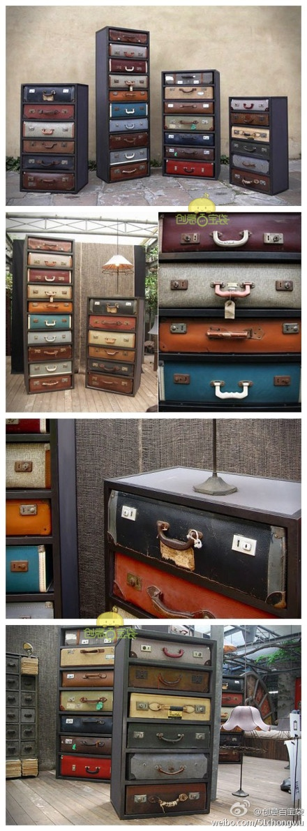 Convert All That Vintage Suitcases Into Drawer Cabinets And Bedside Tables
