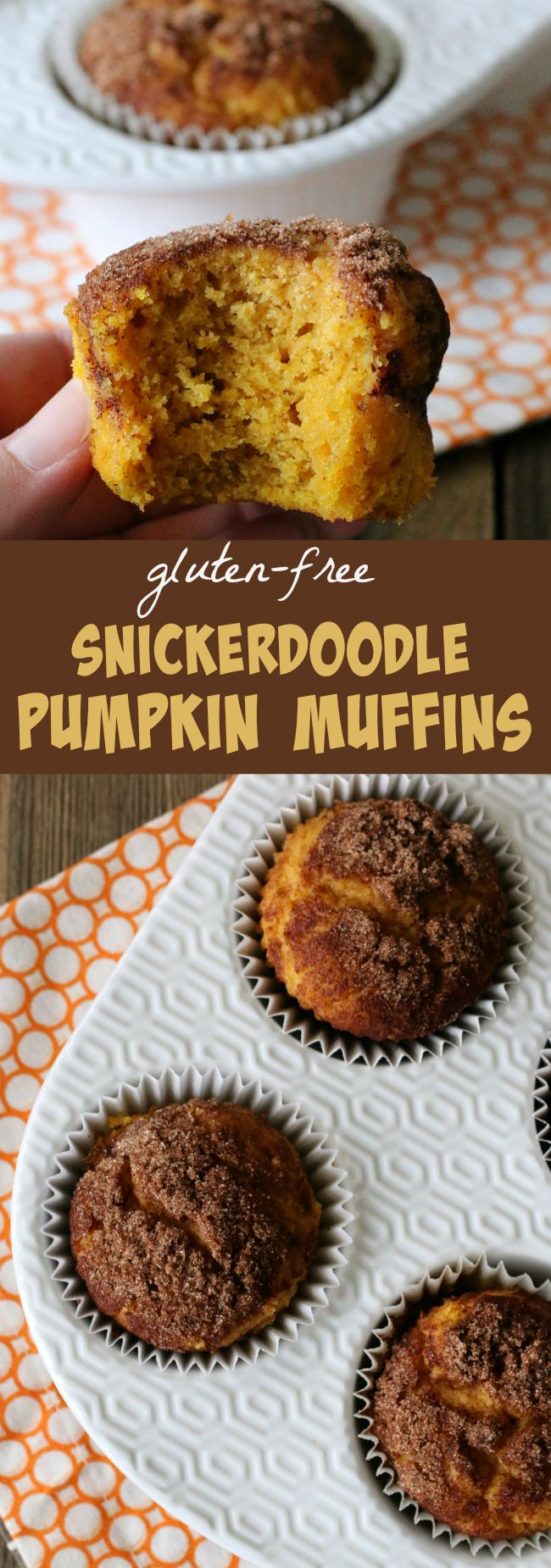 Gluten-free Snickerdoodle Pumpkin Muffins Recipe yummy and easy! My favorite pumpkin muffins ever!  #glutenfreerecipe #glutenfreemuffins