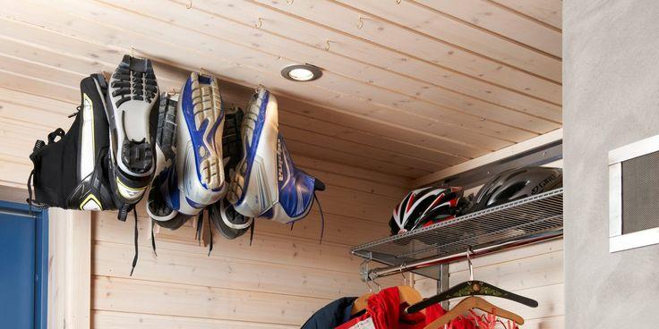 Hytta på Vaset i Vestre Slidre har en smart løsning for tørking av sko.