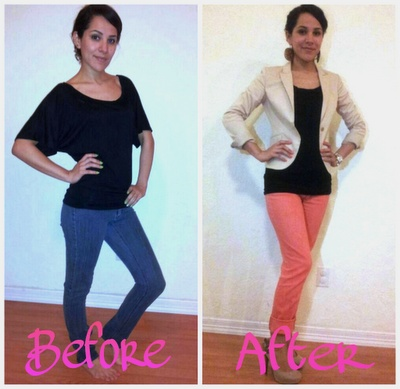 DIY Color Jeans - Loosens jeans, so not bad to try on a pair that's on the tight side!