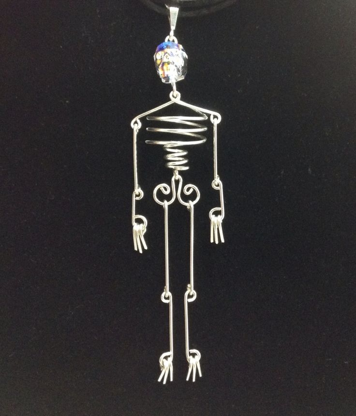 Perfect Halloween pendant! Swarovski Crystal and Sterling Silver. Handmade at #schaeferhobby
