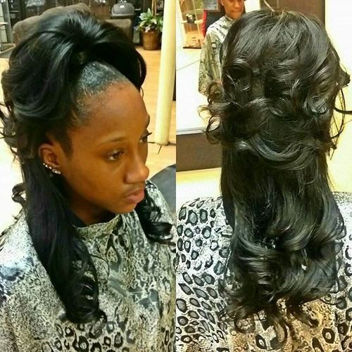 pin up hairstyle with weave collections