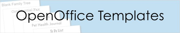 OpenOffice Templates to download, edit and print for free!