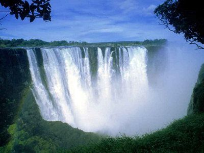 """""""Mosi-O-Tunya"""" or """"the smoke that thunders"""", also known as Victoria Falls."""