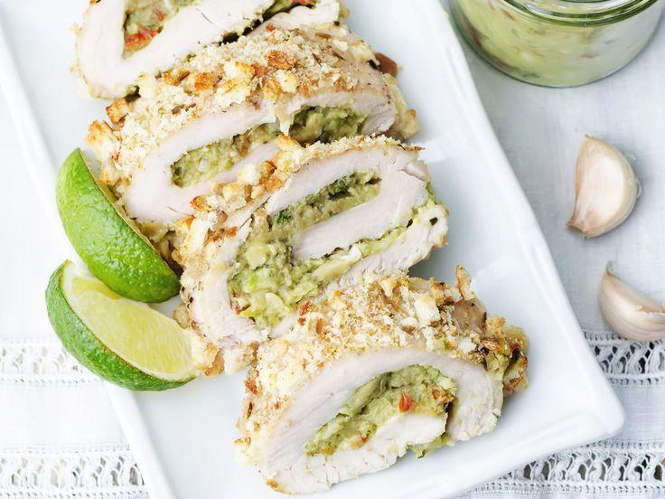 Découvrez la recette du poulet farci au guacamole