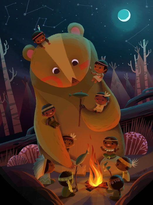 joeyart — Ten Little Indians with the Bear
