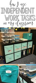 Special education teachers, do you love independent work tasks as much as I do?! Check out how I have implemented an independent work task station in my classroom and get some new ideas for work boxes.
