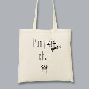 Cabas_pumqueen chai Tote bag Pumkin chai spice latte