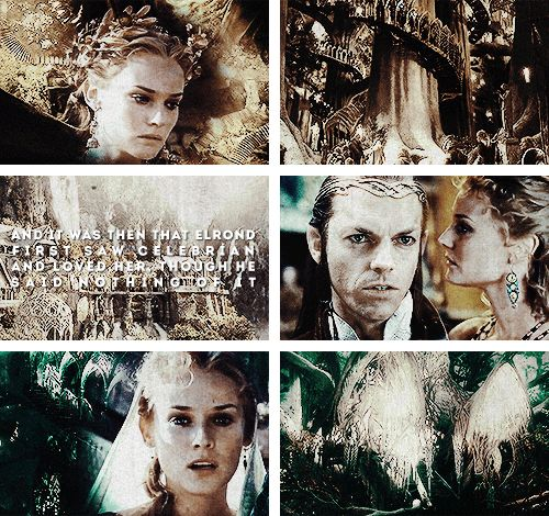 And it was then that Elrond first saw Celebrian and loved her, though he said nothing of it. #silm