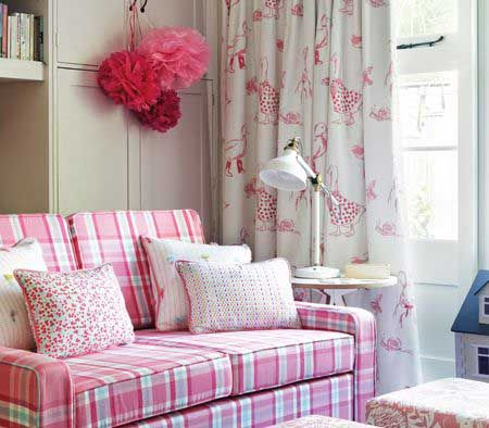 Perfect for the Girls bedroom - Clarke & Clarke Storybook Pink Collection, here with luxurious pink tones and patterns. Great for the little girls bedroom! #girlsbedroom