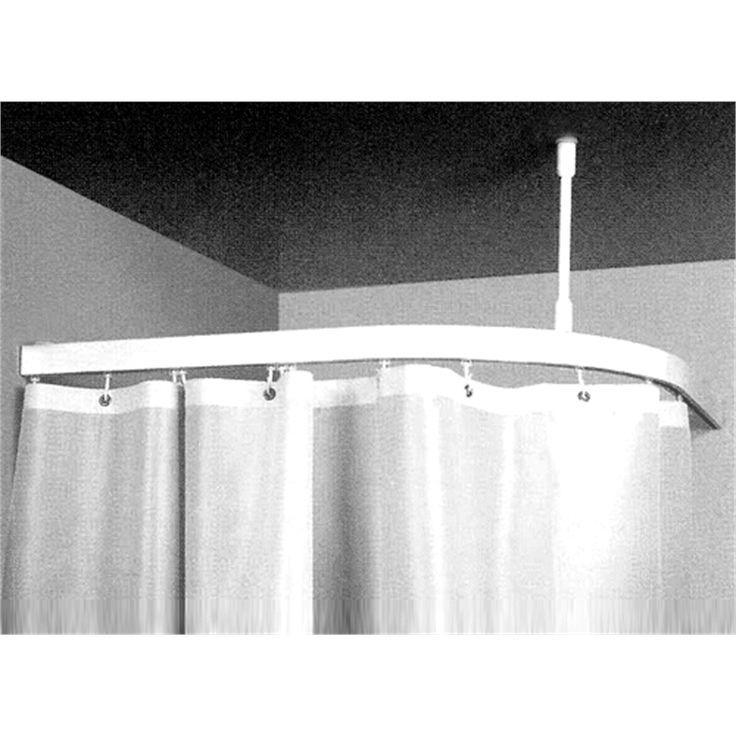 BUNNINGS $87 Zone Hardware 1 X 1m Shower Curtain Corner