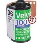 Fujifilm RVP 135-36 Fujichrome Velvia 100 Professional Color Slide Film (5 Rolls)