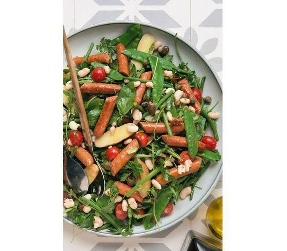 RECEPT: bonensalade met merguez en kleine aardappelen | Nina kookt | Nina | HLN