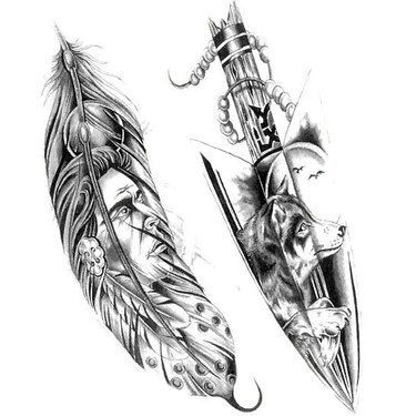 Indian Feather Arrow Tattoo Design | Feather tattoos ...