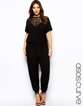 Enlarge ASOS CURVE Exclusive Jumpsuit With Lace Insert