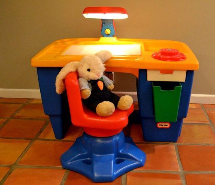 Little Tikes Tykes Art Desk Activity Table With Light Lamp
