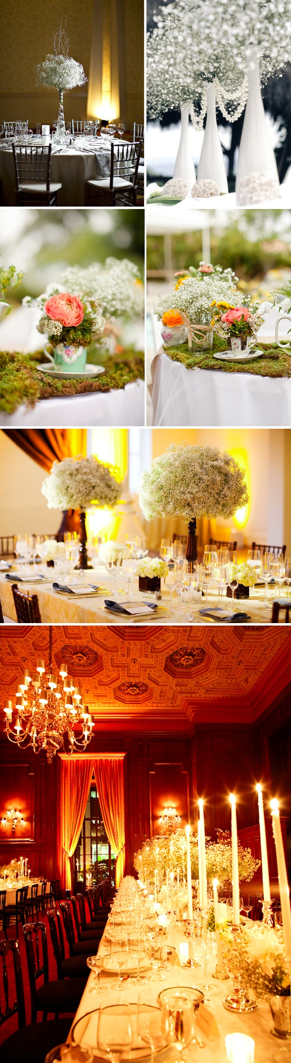 Upper right corner would be awesome for winter wedding - Baby's Breath Wedding Flowers