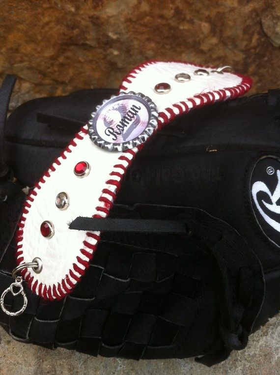 Baseball mom bracelet cuff team name and by Rocknmamadesigns, $40.00