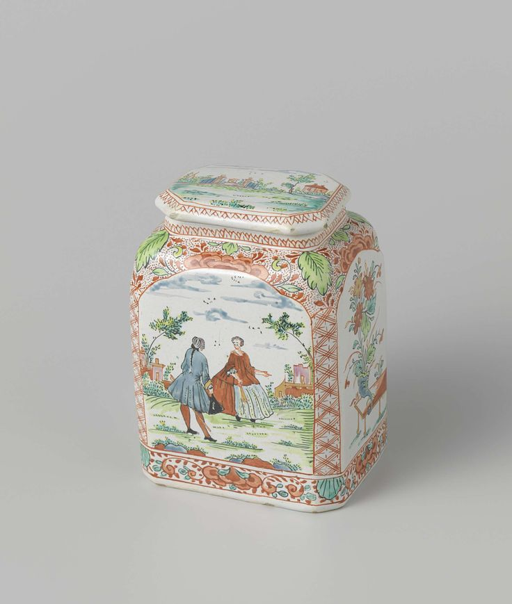 Tea canister, anonymous, c. 1720 - c. 1760
