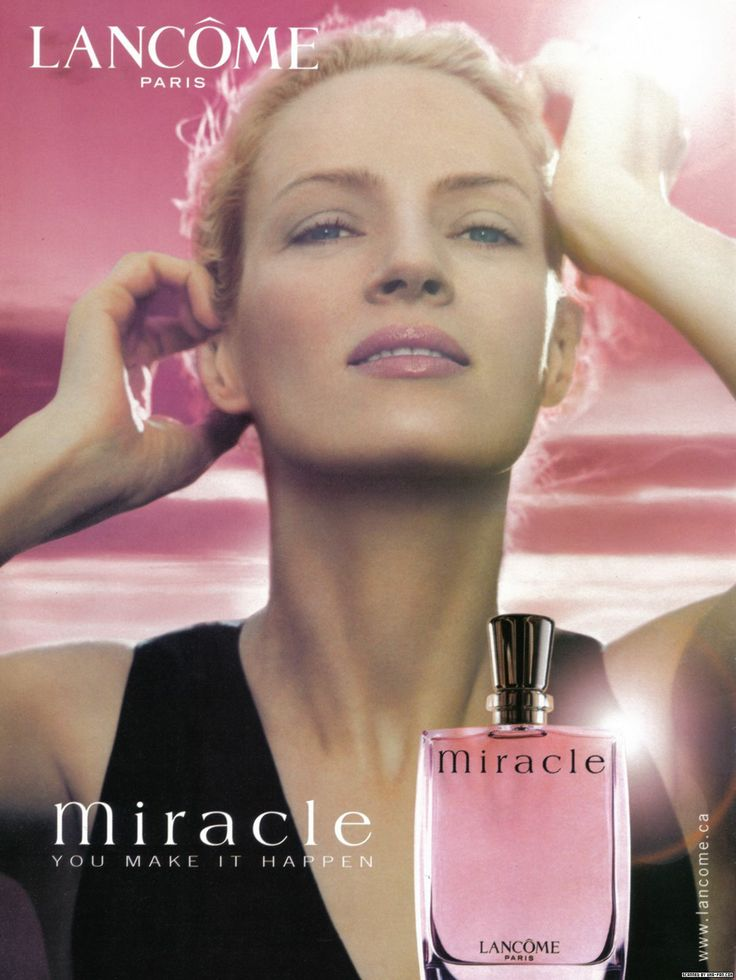 Oh hey my favorite perfume :) Lancome Miracle, Uma Thurman