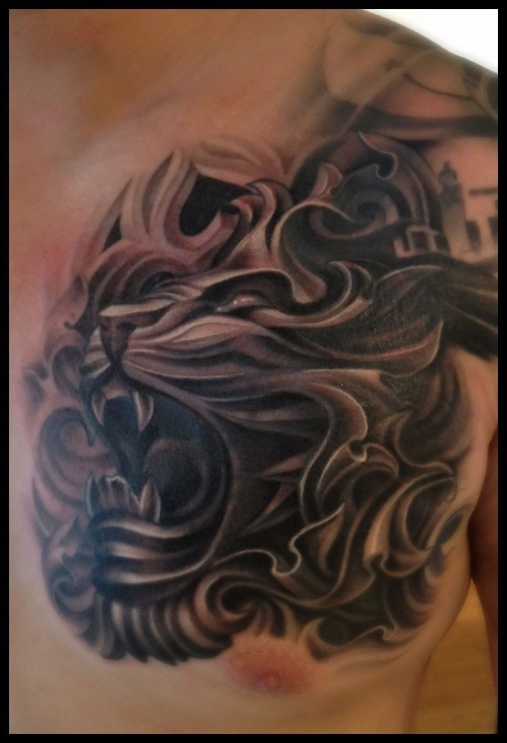 Chest tattoo designs for men - Best 25 Lion Chest Tattoo Ideas On Pinterest Lion Tattoo Design Roaring Lion Tattoo And Tribal Lion Tattoo
