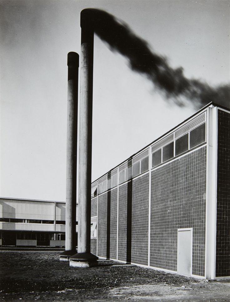 """germanpostwarmodern: """"Weaving Mill (1949-51) in Blumberg, Germany, by Egon Eiermann """""""