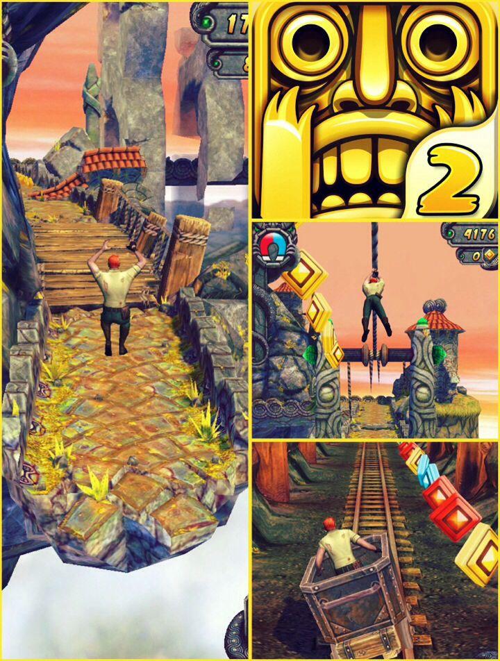 Em Temple Run você é um caçador de relíquias que acaba de roubar um artefato sagrado. Ao sair correndo do templo, criaturas estranhas começam a te perseguir. Você deve fugir delas a todo custo e coletar as moedas que estão espalhadas pelo jogo. O objetivo do game é percorrer a maior distância possível após roubar um artefato sagrado.  A tarefa se torna complicada devido aos obstáculos e as mudanças repentinas no cenário. Esse jogo é realmente muito divertido.