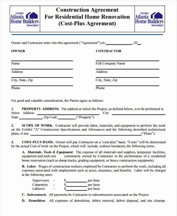 Free Residential Roofing Contract Template Elegant 7 Construction Contract Templates Word Google D In 2020 Contract Template Construction Contract Contract Agreement