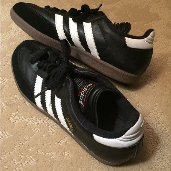 Adidas Kids Samba Classic Core Sneakers - popsugar.com