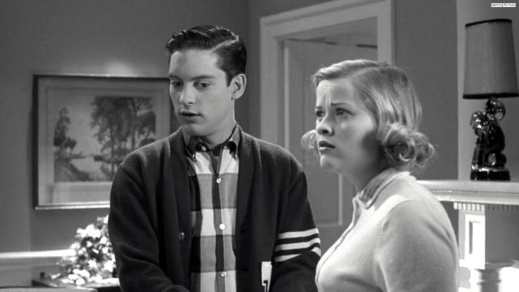 (5)Voila all thanks to him we were in a completely different world. WE WERE INSIDE THE TV.To be more precise we were now a part of pleasantville