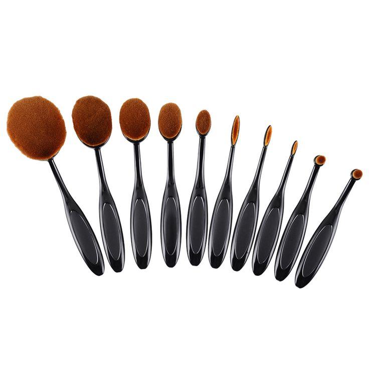 Toothbrush Oval Shape Makeup Brush (10 Pcs) //Price: $24.84 & FREE Shipping //     #hashtag4