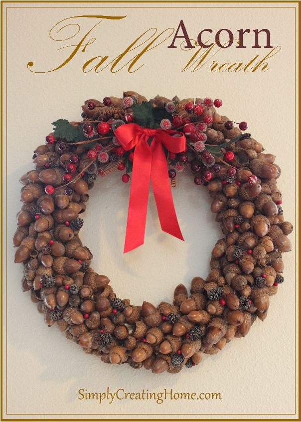 Fall-Acorn-Wreath- have enough of these little guys in my yard to make 100 of these!