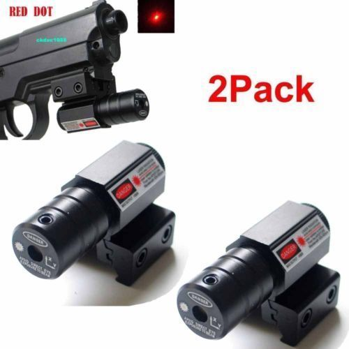 2Pcs Hunt Compact Red Dot Laser sight Picatinny Rail for Glock Rifle pistol #a06