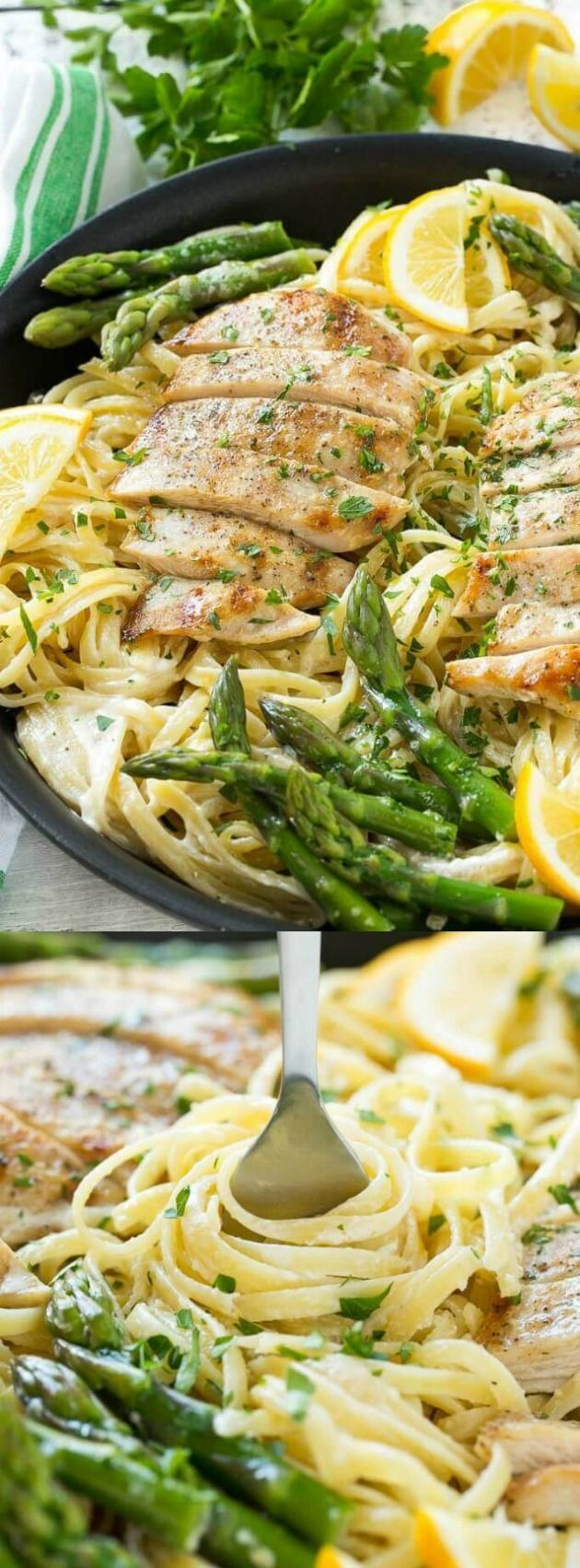 This recipe for Lemon Asparagus Pasta with Grilled Chicken from Dinner at the Zoo combines tender asparagus and grilled chicken with pasta in the most delicious lemon cream sauce!