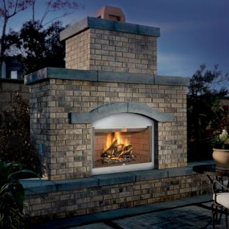 Superior/FMI Tuscan 42 in. Outdoor Wood Burning Firebox in Natural White