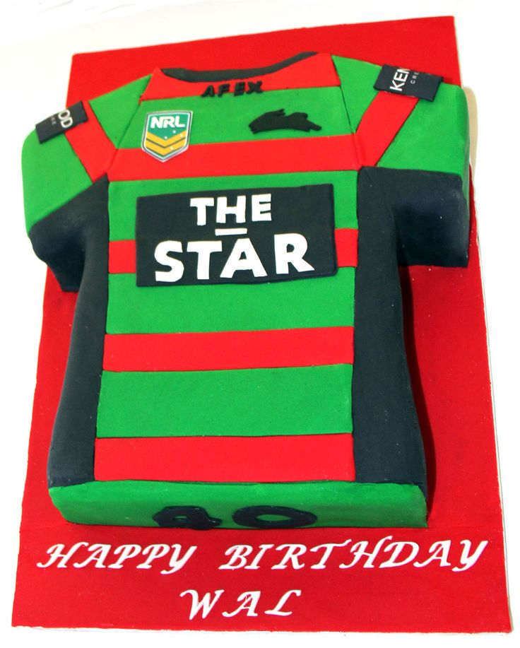 South Sydney Rabbitoh's Jersey Cake Like us at www.facebook.com/melianndesigns